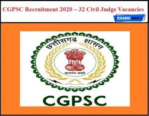 CGPSC Civil Judge Mains Admit Card 2021