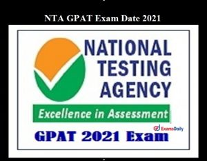 NTA GPAT 2021 Result with Score Card