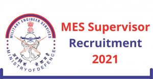 MES Draughtsman | Supervisor Online Form 2021