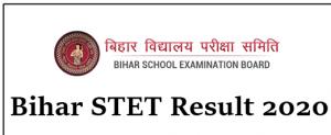 Bihar STET BSTET 2019 Result