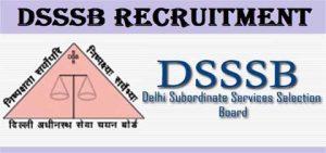 DSSSB Post Online Form