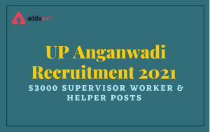 UP Aganwadi Worker / Helper Online Form 2021