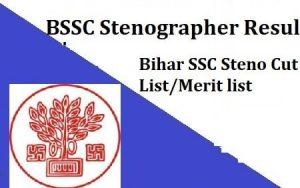 BSSC Stenographer Skill Test Result 2021
