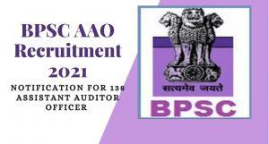 BPSC AAO Online Form 2021
