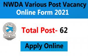 NWDA Post Online Form 2021
