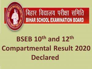 Bihar Board Compartment Result 2021