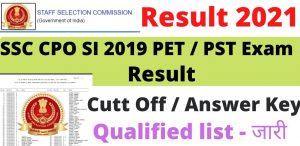 SSC CPO SI 2019 Paper II Exam Date